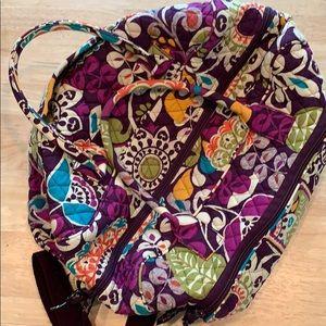 EUC Vera Bradley Large Duffel Bag, Purple